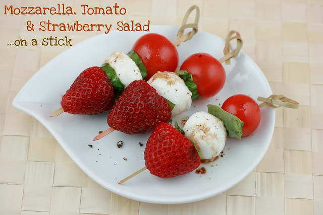 Mozzarella, Tomato and Strawberry Salad