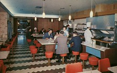 The Coffee Shop, Royal Alexandria Hotel, Winnipeg, Manitoba (SwellMap) Tags: vintage advertising restaurant design pc cafe 60s fifties eating postcard suburbia posing style diner kitsch retro truckstop nostalgia chrome chef americana dining 50s roadside waitress cafeteria googie populuxe sixties diners babyboomer waiter consumer coldwar snackbar eatery midcentury driveinrestaurant atomicage