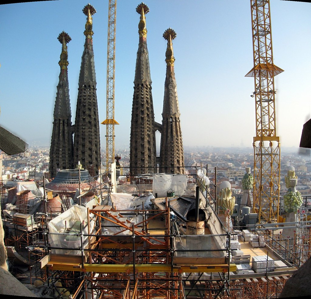 Sagrada Familia - View from Passion Side Tower