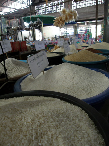 Lots of Rice for sale in Chiang Mai market