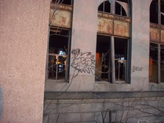 noe one (are_you_def) Tags: station train one graffiti michigan detroit central abandon mcs noe
