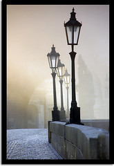 Good old Prague (Jarda Zakravsky) Tags: morning blue fog d50 bravo prague praha czechrepublic charlesbridge ceskarepublika karluvmost lifeasiseeit supershot mywinners innamoramento megashot overtheexcellence thegreatshooter atqueartificia themonalisasmile