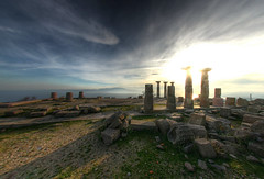 The temple of Athena (Man) Tags: turkey greek temple ancient ruins roman fisheye explore greece athena lesbos hdr assos 3xp defished interestingness162 i500 manuperez alemdagqualityonlyclub