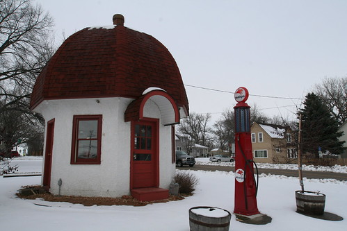 The Mushroom Building - Vintage 1931 Gas Station