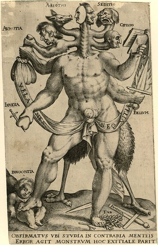 Allegory of the Five Obstinate Monsters (c. 1575 - 1618) - Anon.