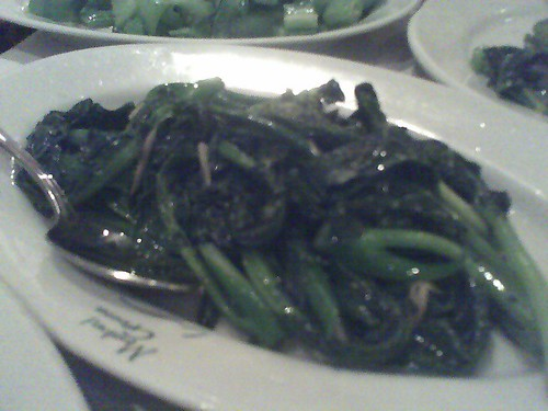 Chinese Brocolli at Mustard Greens