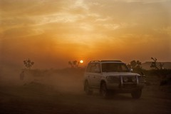 The last Ride Together (Max Loxton) Tags: old pakistan sunset canon evening sand desert jeep rally 300mm cholistan bahawalpur derawarfort yasirnisar f4lis