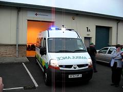 Urgent tier ambulance warning lights in action (barronr) Tags: warning bluelights flashinglights scottishambulanceservice
