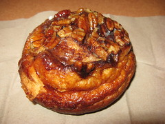Panera Bread: Pecan roll (close up)