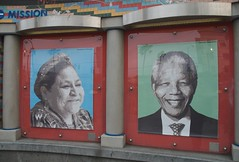 Rigoberta Menchu & Nelson Mandela at Plaza 16 Public gallery at 16th St BART