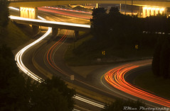 Ribbons of Light (RMac_Photography) Tags: city longexposure atlanta sunset sky skyline ga d50 georgia geotagged lights movement nikon downtown nightshot atl cities rmac