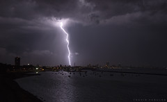 Lightning, Milwaukee, WI (DFasules) Tags: weather wisconsin night lakemichigan milwaukee lightning wisconsinthunderstorms