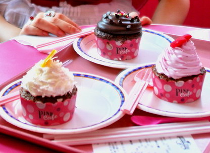 Cupcakes from Pink Cafe, Universal Studios Japan