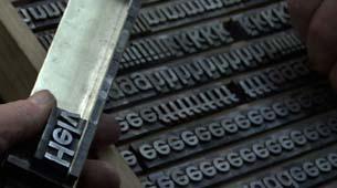 Helvetica in Letterpress