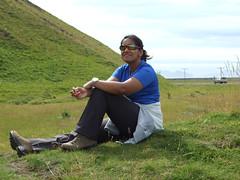 Monica near Seljalandfoss