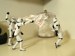 Towel-Flickin' Twins (Doctor Beef) Tags: toy actionfigure starwars stormtroopers