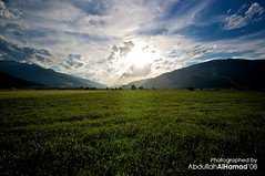 Blow-up Sunset (abdull) Tags: trip sunset summer sky green clouds canon austria see am sigma 2008 1020 zell xsi abdullah 450d alhamad