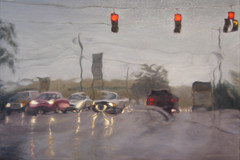 Wait (Patrick D. Glover) Tags: art nature rain painting perception traffic control paintings oil highways roads process uncertain anxiety certainty