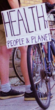 Critical mass bike rally sign