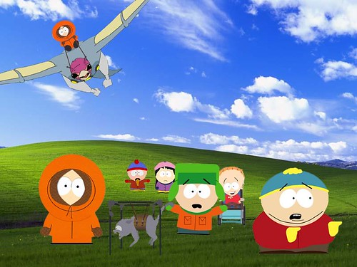 funny background. Funny South Park XP wallpaper.