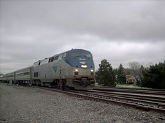 Westbound Amtrak Illinois Zephyr. Brookfield Illinois. April 2007.