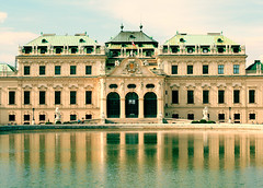 Belvedere (feeldae) Tags: vienna reflection austria belvedere reflexions 50mmf14 canon400d