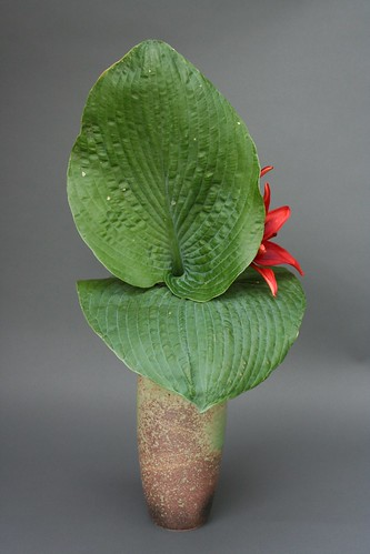 Ikebana- Emphasizing the surface of leaves