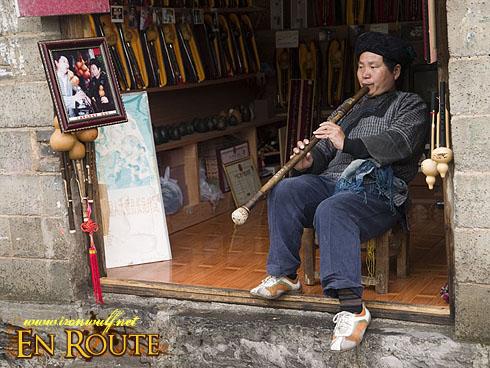 fenghuang Miao Minority Flute Vendor