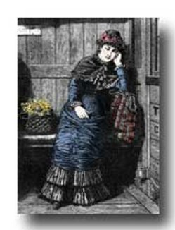 victorian woman clipart