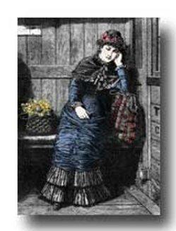 victorian woman clipart