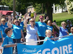 Danielle and her supporters march