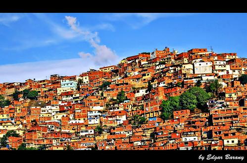 Overpopulated Barrios in Caracas