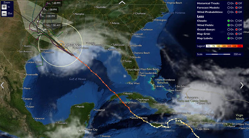 Hurricane Gustav as seen from stormpulse.com