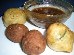 Breaking fast with accra, kibbe and chutney
