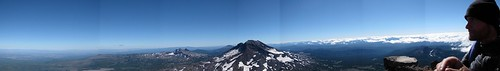 Panorama from Summit, Middle Sister, Oregon