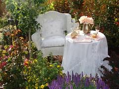 In my secret garden (THE HOUSE IN THE ROSES) Tags: table linen secretgarden gardentable puredelight fairygarden linentablecloth awayinthegarden thehouseintheroses