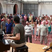 Pete Churchill leads GMF students in choir rehearsal, Centro Giovanni