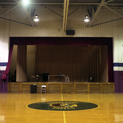 Gymnasium/Auditorium, CW Rice Middle School, Northumberland.