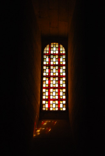 Stain glass window, Avignon castle