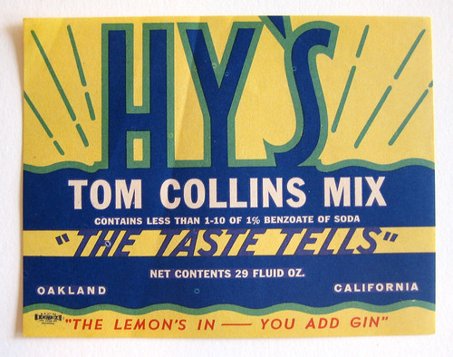 Hy's Tom Collins Mix