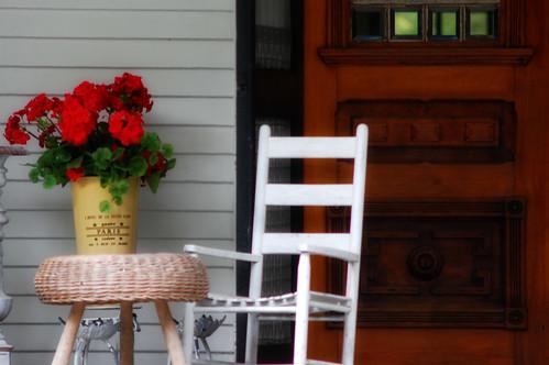 Porch Geraniums
