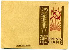 Tessera PCI 1945 - Fronte & Retro