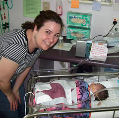 Laura Beth at the NICU
