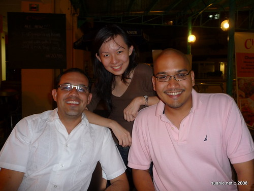 Juan, Victor and FA at Champs, Bandar Utama
