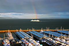 Edmonds Marina (janruss) Tags: ferry marina washington rainbow edmonds topshots abigfave goldstaraward worldwidelandscapes guasdivinas panoramafotogrfico janruss janinerussell newgoldenseal