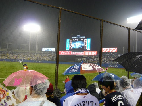 Japanese baseball game, Yakult vs. Hanshin