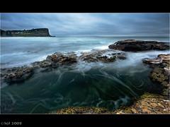 Avalon Beach, Sydney (sachman75) Tags: water rocks waves sydney australia nsw 1022mm northernbeaches digitalblending interestingness88 i500 avalonbeach 40d bwpolarizer auselite