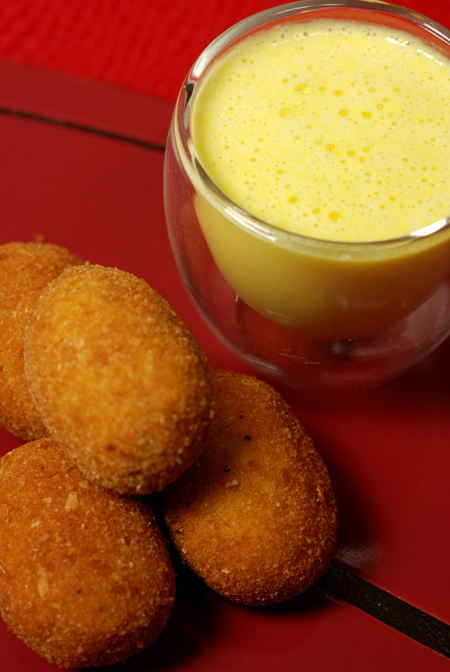 Potato Corn and Chorizo Croquettes© by Haalo