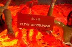 Filthy Blood Pond (enso-on) Tags: sculpture gardens singapore chinese statues kitsch fantasy themepark myth hawparvilla villatiger tigerbalmgardenssingaporehaw