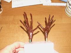 Pumpkin King's hands, front (ladyartisan) Tags: halloween pumpkin artdoll paperclay apoxiesculpt estydams